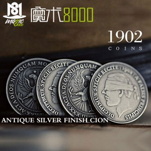 1902 Antique Silver Finish Coins