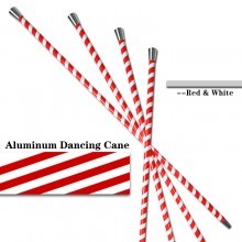 Aluminum Dancing Cane—Red&White