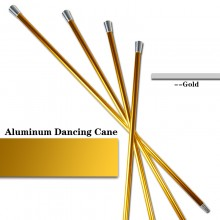 Aluminum Dancing Cane—Golden