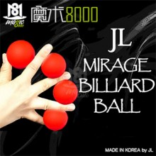 JL Mirage Billiard Ball (red)